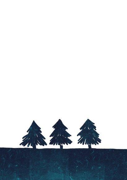 Kerstkaart typografie boomwortels 2