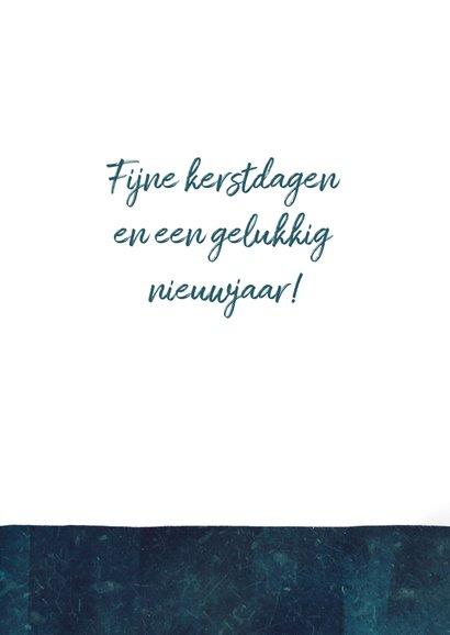 Kerstkaart typografie boomwortels 3