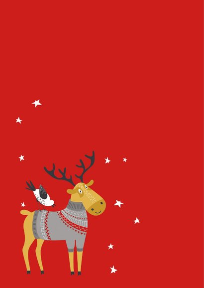 Kerstkaart Veel kerststerren 2