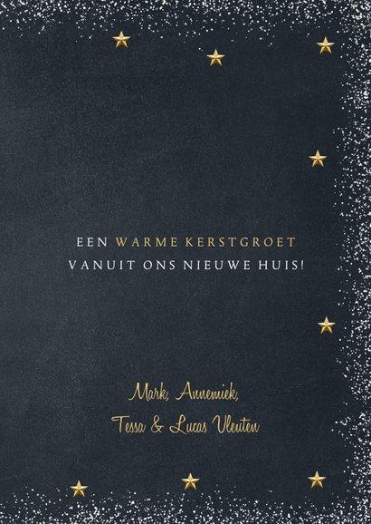 Kerstkaart verhuis Home is the heart of Xmas goud krijtbord 3