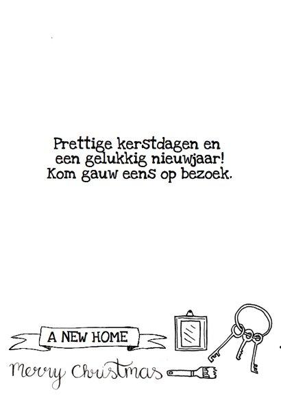 Kerstkaart verhuiskaart zwart-wit handlettering  2