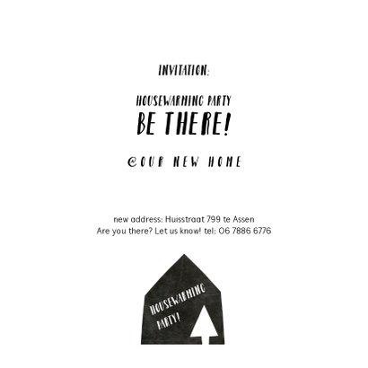 Kerstkaart verhuiskaart zwart wit 3