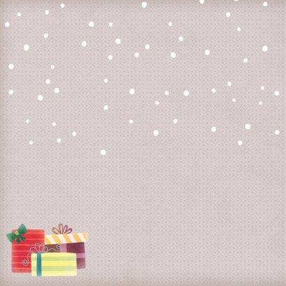 Kerstkaart vierkant beer met muts - BK 2