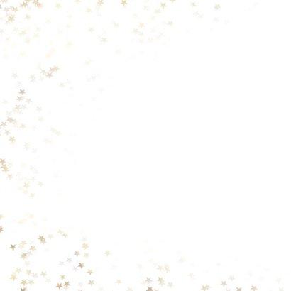 Kerstkaart vierkant met gouden kerstboom - Een gouden kerst 2