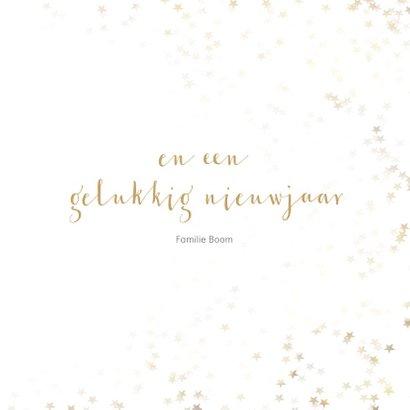 Kerstkaart vierkant met gouden kerstboom - Een gouden kerst 3