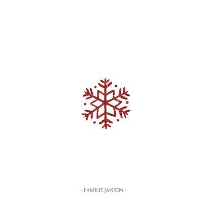 Kerstkaart vierkant met sierlijke letters en foto's 3