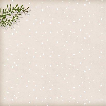 Kerstkaart vierkant wit konijntje 2