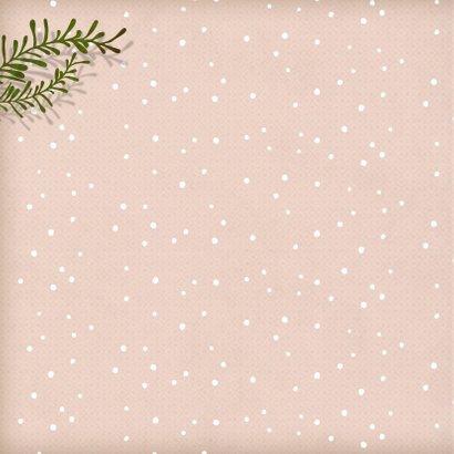 Kerstkaart vierkant witte ijsbeer 2