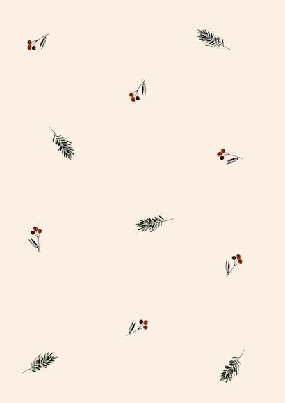 Kerstkaart vogel bessentak 2