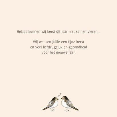Kerstkaart vogeltjes hartjes 3