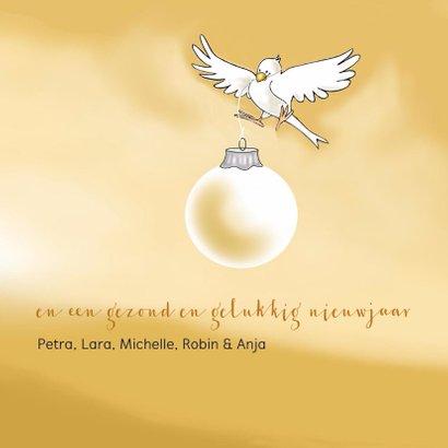 Kerstkaart vogeltjes met sterren 3