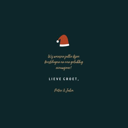 Kerstkaart warm wishes met leuke illustraties 3