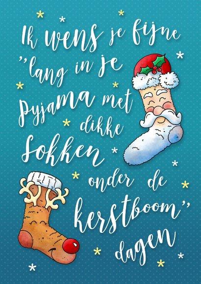 Kerstkaart warme sokken pyjamadag 3