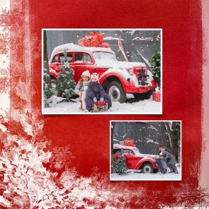 Kerstkaart houten wegwijzer rood 2020 2