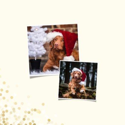 Kerstkaart wij wensen jullie groot geluk met confettikader 2