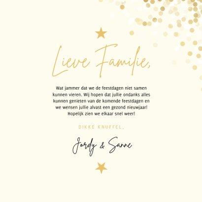 Kerstkaart wij wensen jullie groot geluk met confettikader 3