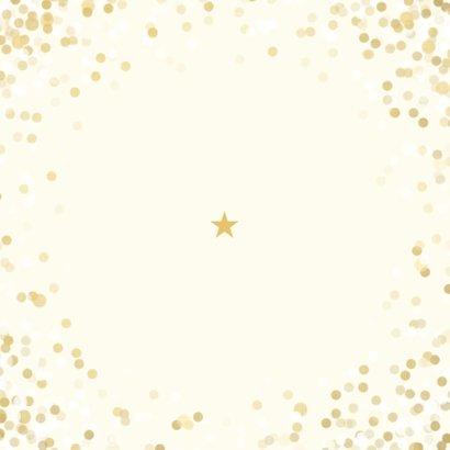 Kerstkaart wij wensen jullie groot geluk met confettikader Achterkant