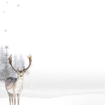 Kerstkaart winter hert 2