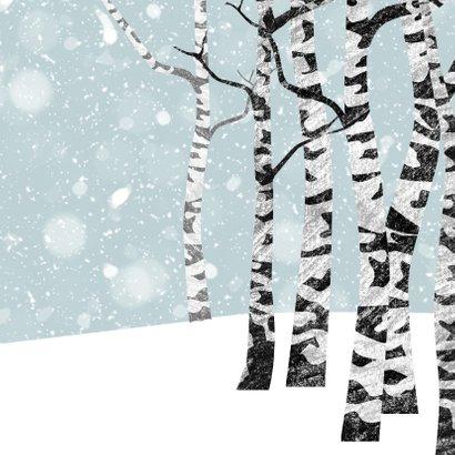 Kerstkaart winter met hert 2