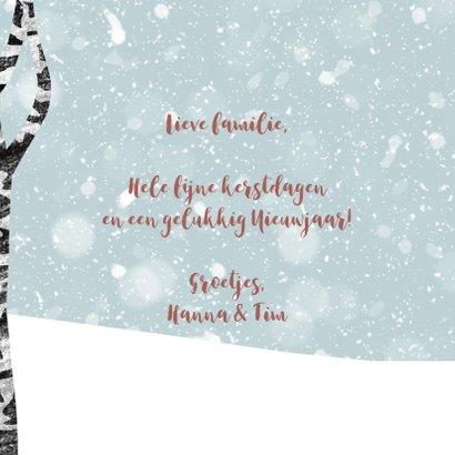 Kerstkaart winter met hert 3