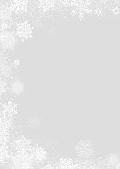 Kerstkaart winter staand foto 2