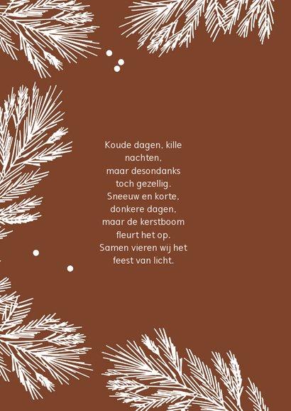 Kerstkaart winter takjes - HM 2