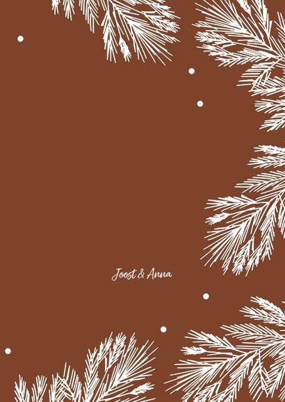 Kerstkaart winter takjes - HM 3