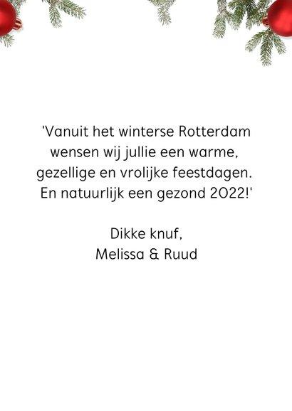 Kerstkaart Xmas is here again staand 3