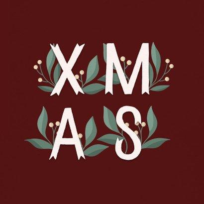 Kerstkaart 'Xmas' met takjes 2
