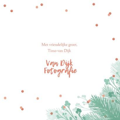 Kerstkaart zakelijk botanical foto's confetti  3