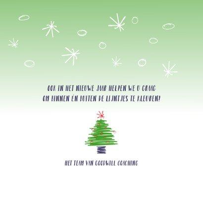 Kerstkaart zakelijk Buiten de lijntjes kleuren 3