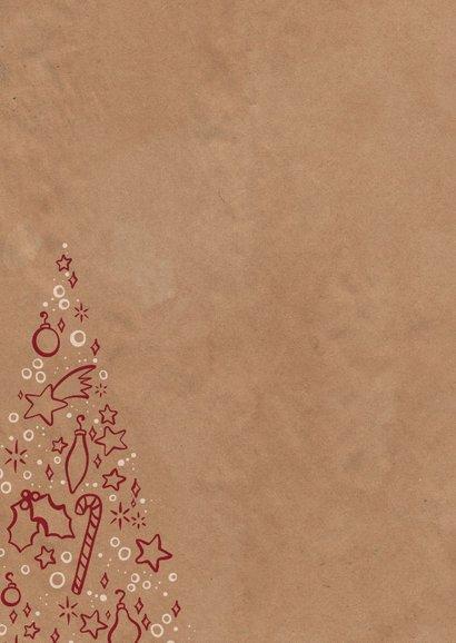 Kerstkaart zakelijk kerstboom met symbooltjes 2