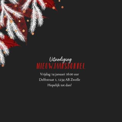 Kerstkaart zakelijk rood wit foto goud confetti 2