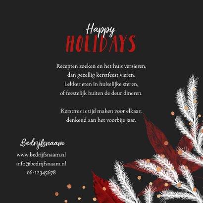 Kerstkaart zakelijk rood wit foto goud confetti 3