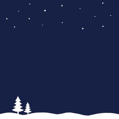 Kerstkaart zakelijk sneeuw stijlvol 2