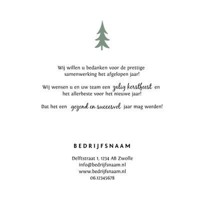 Kerstkaart zakelijk stijlvol en hip met bedrijfsfoto 3