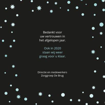 Kerstkaart zakelijk Uw welzijn is onze zorg 3