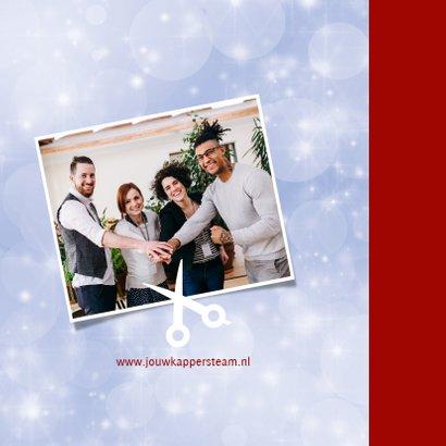 Kerstkaart zakelijk Wij verzorgen graag jouw haar 2