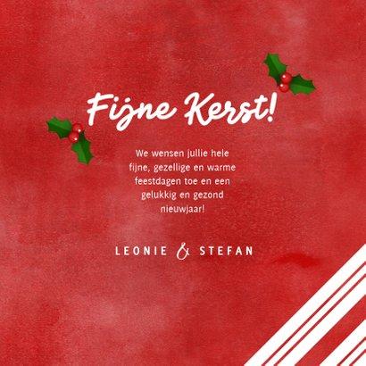 Kerstkaart zuurstok kader, grote foto, hulst en Fijne Kerst! 3