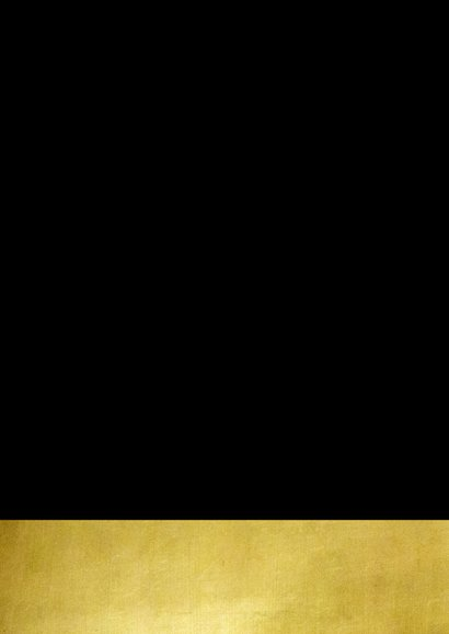 Kerstkaart zwart goud cirkels sterren en confetti Achterkant