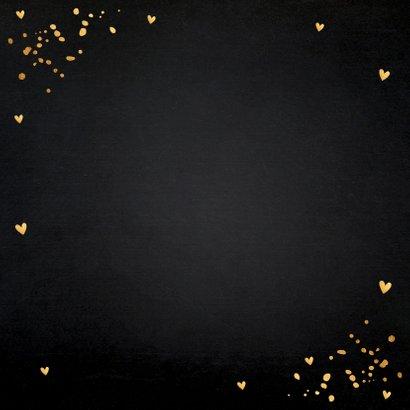Kerstkaart zwart goudlook typografie 2