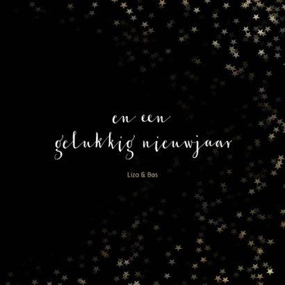Kerstkaart zwart kerstster van goud - Een gouden kerst 3