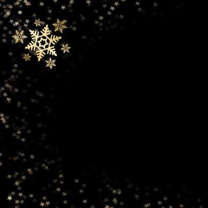 Kerstkaart zwart met gouden sneeuwvlok - een gouden kerst 2