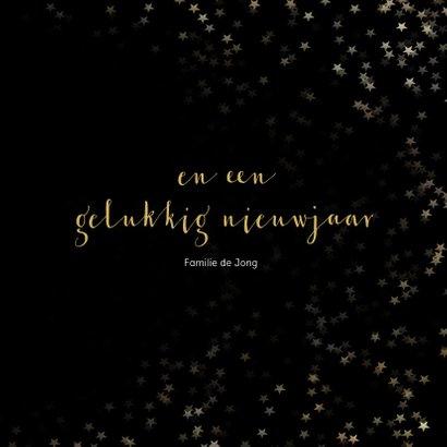 Kerstkaart zwart met gouden sneeuwvlok - een gouden kerst 3