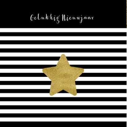 Kerstkaart zwart wit goud - OT 2