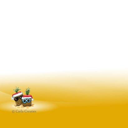 kerstkaarten ananas met kerstmuts 2