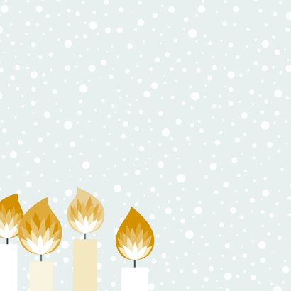 Kerstkaartje illustratieve kaarsjes  2