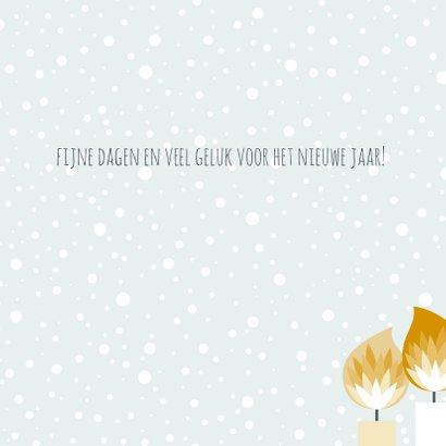 Kerstkaartje illustratieve kaarsjes  3