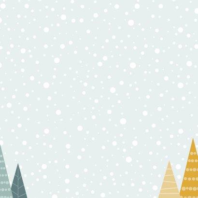 Kerstkaartje illustratieve kerstbomen 2