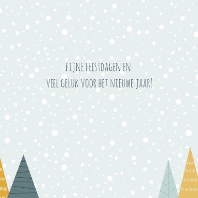 Kerstkaartje illustratieve kerstbomen 3